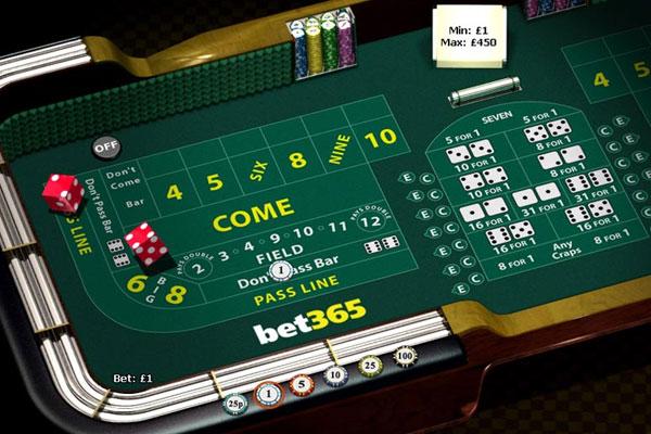 Craps at Bet365