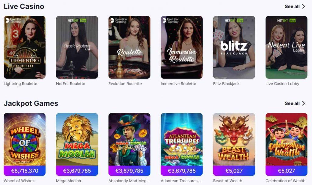 megarush live casino and jackpot games-min