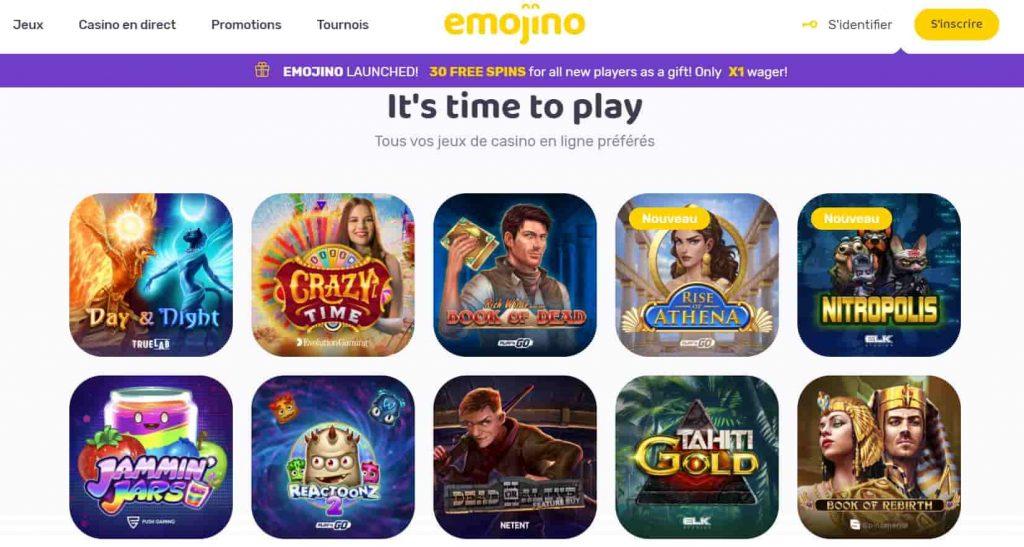 emojino casino games